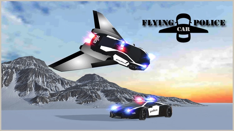 Flying Car Game - Future Police Chase 3D screenshot-4