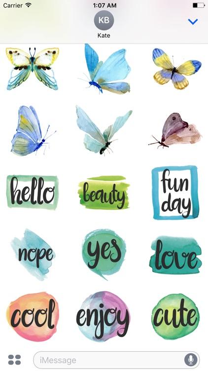 Watercolor Butterflies Sticker Pack