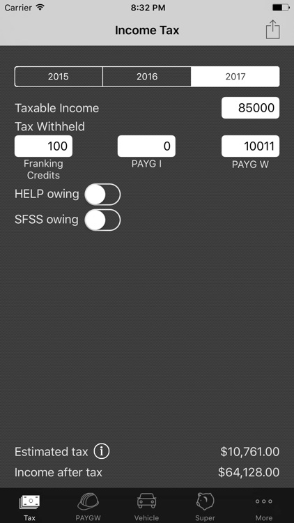 my Tax – Income Tax Calculator with ATO Rates