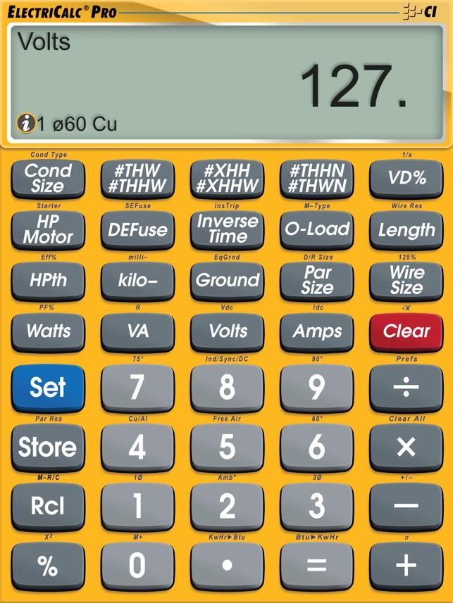 Electricalc pro advanced nec code calculator on the app store keyboard keysfo Choice Image