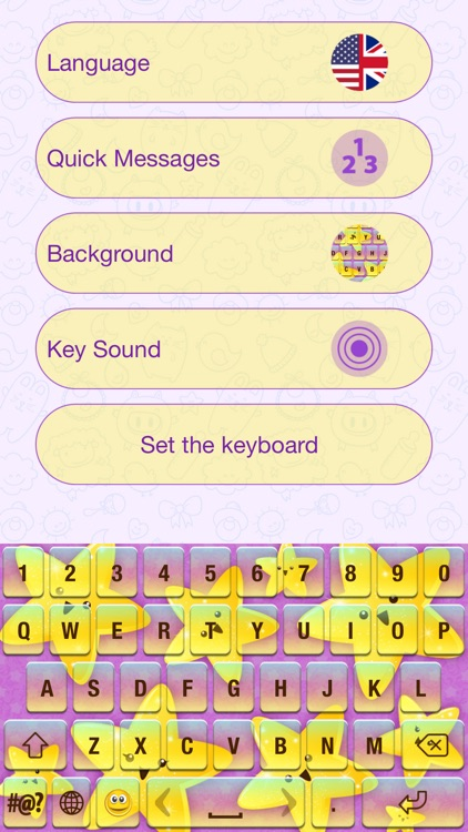 Cute Cartoon Color Keyboard Themes Emoji & Layout screenshot-4