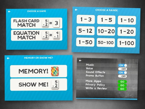 Subtraction Flash Cards Math Games for Kids Free-ipad-2