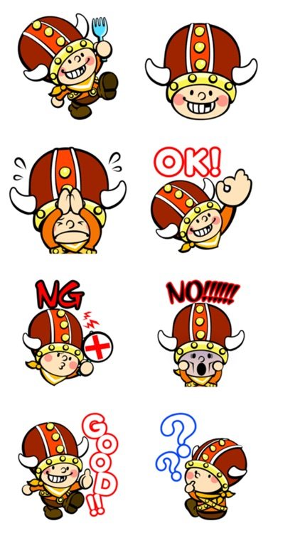 Little Viking Stickers