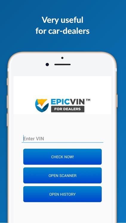 Epicvin VIN decoder & history reports screenshot-3