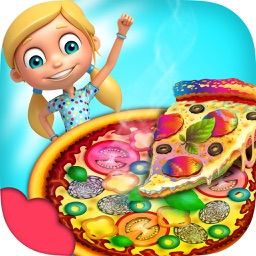 Rainbow Pizza Maker Kids Cooking Game! Pizzeria