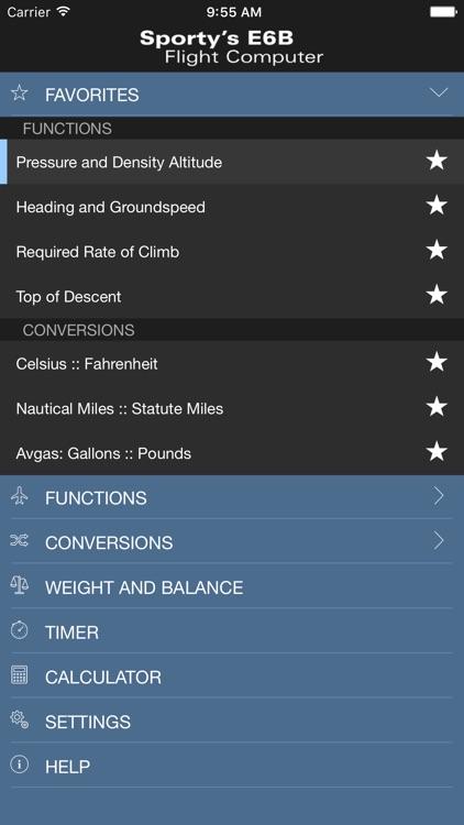 Sporty's E6B Flight Computer app image