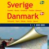Schweden, Dänemark. Straßenkarte