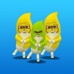 Animated Athlete Banana Sticker 2
