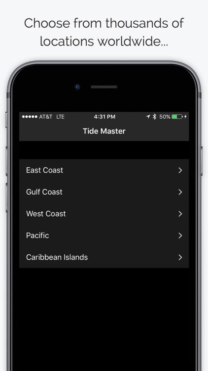 Tide Master - Ocean Tides, Charts, Graphs, Tables