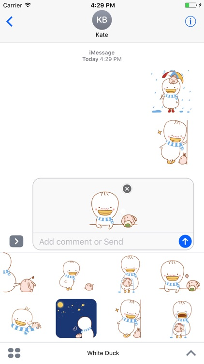 White Duck  - Animated Stickers And Emoticons