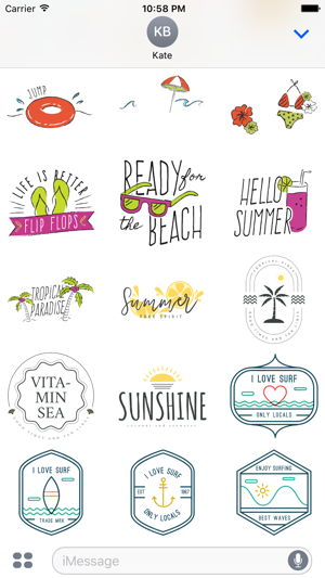 Animated Summer Fun Quotes Stickers En App Store