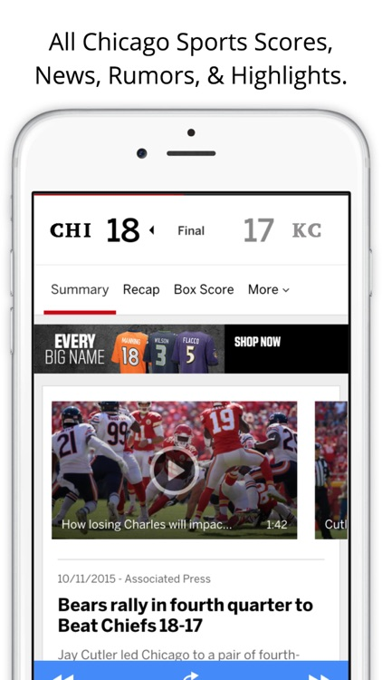 Chicago GameDay Radio for Bears Cubs White Sox screenshot-3