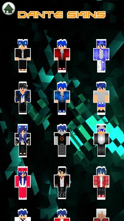 Cute Couple Dante & Kawaii Skins For Minecraft PE
