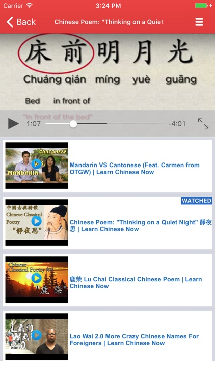 Chinese Video Lessons - Watch and Learn screenshot-3