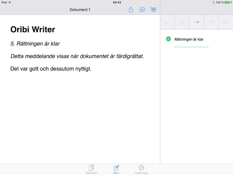 Oribi Writer screenshot-4