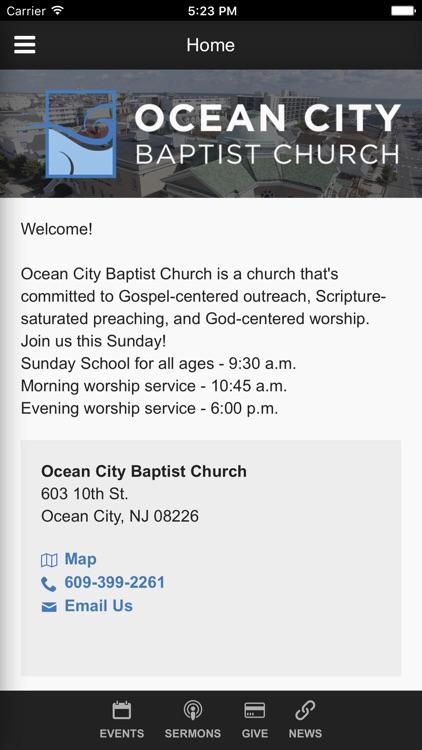 Ocean City Baptist Church - Ocean City, NJ