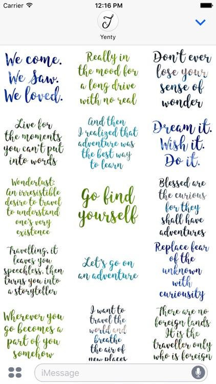 Wanderlust Traveller Messages