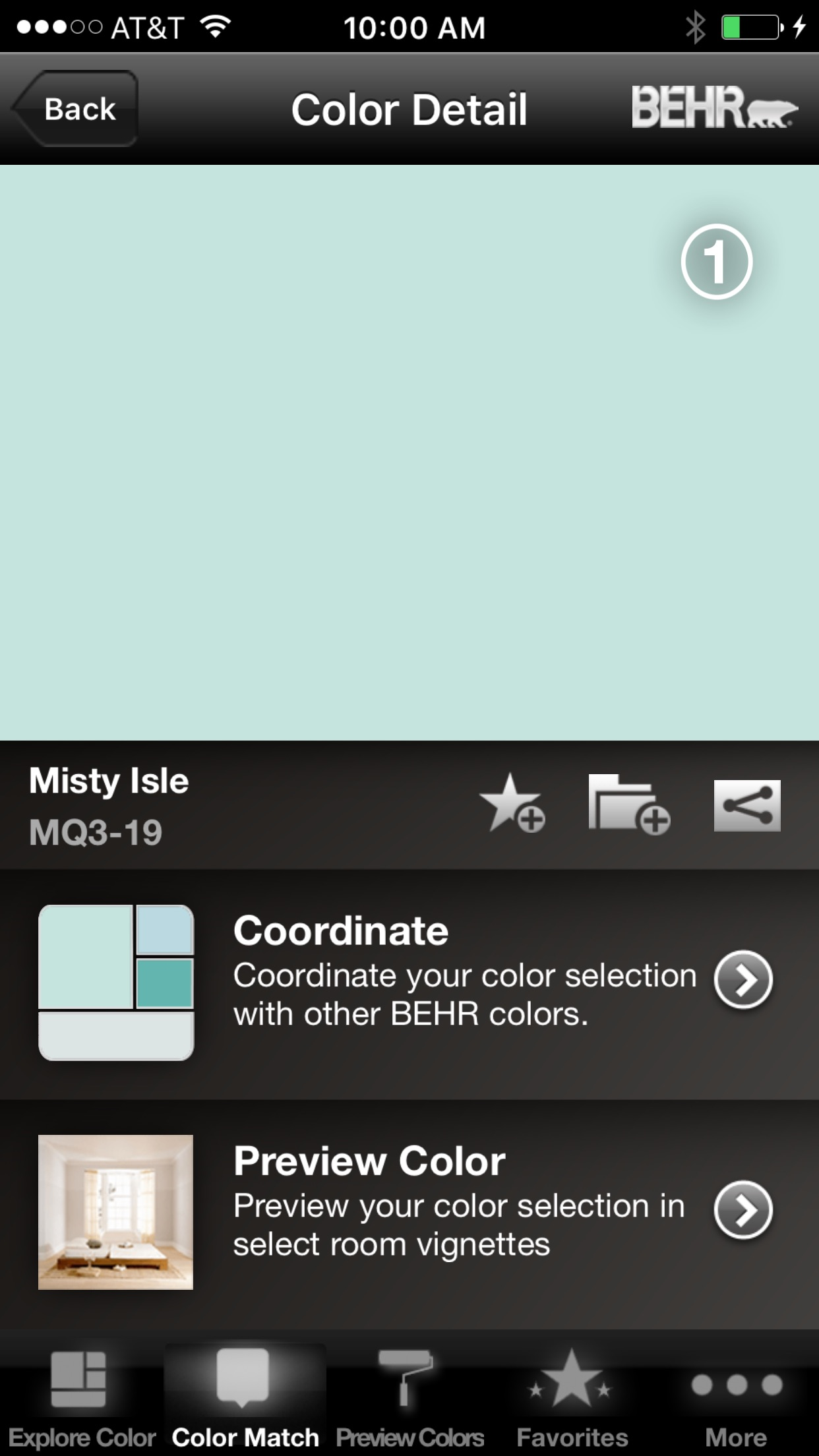 ColorSmart by BEHR® Mobile Screenshot