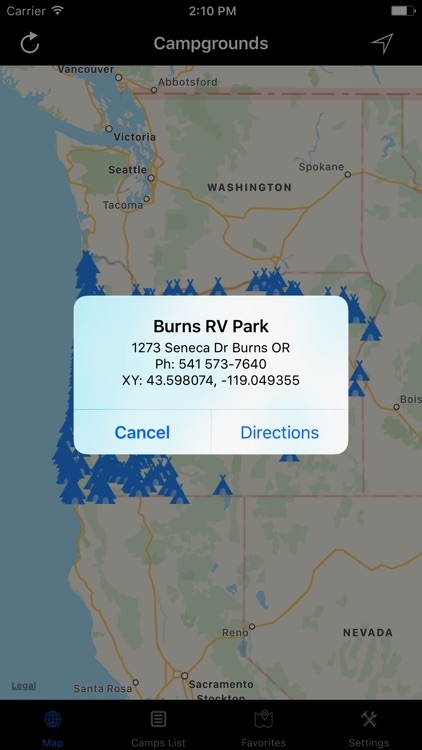 Oregon – Campgrounds & RV Parks