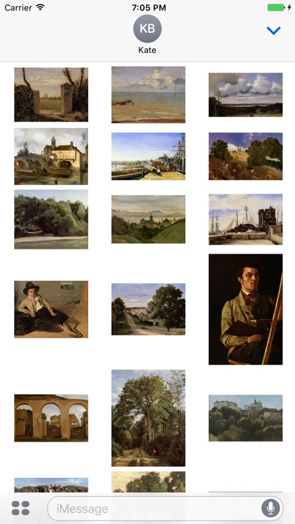 Camille Corot Artworks Stickers screenshot-3