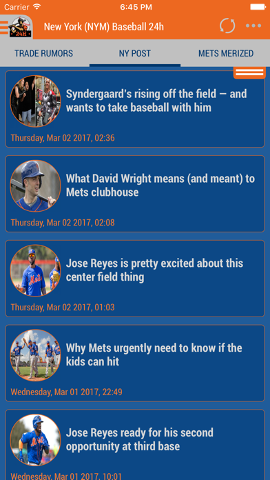 New York (NYM) Baseball 24h Screenshot on iOS