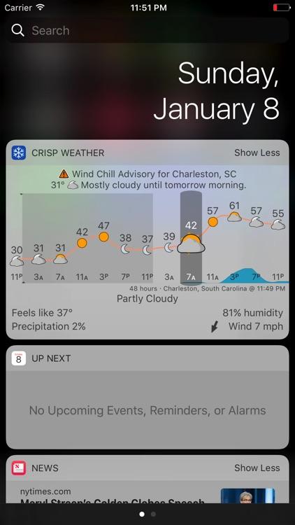 Crisp Weather Widget