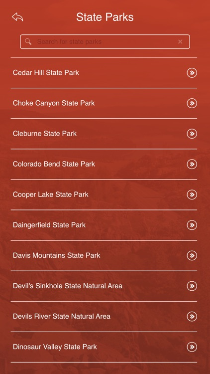 Texas State Parks, Trails & Campgrounds