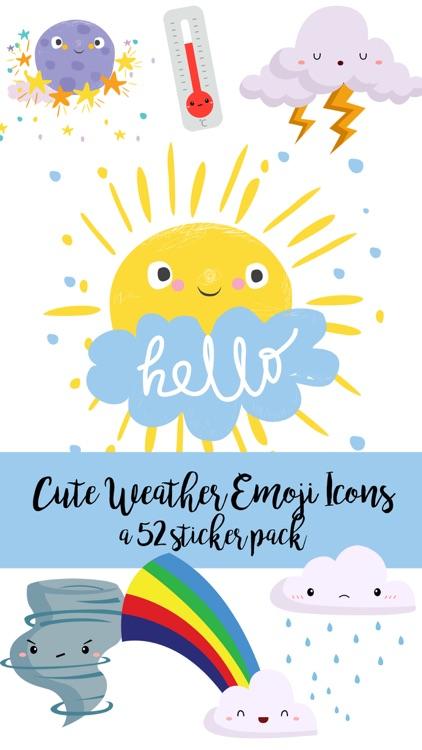 Cute Weather Emoji Icons Sticker Pack