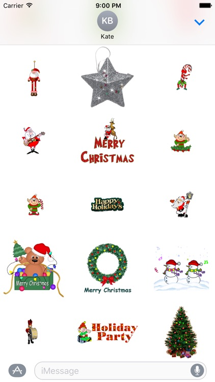 Animated Christmas Stickers for iMessage