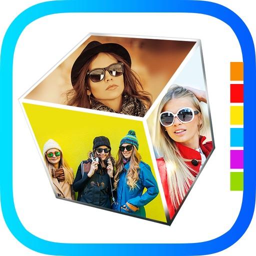 3D Collage Pro - 3d & 2d magazine Collage Frame