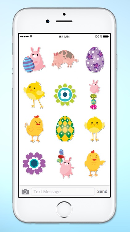 Easter Eggs and Animal Sticker Pack screenshot-4