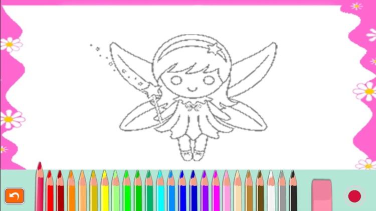 Princess fairy tail coloring for kindergarten screenshot-4