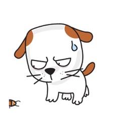 Animated Brave Dog Stickers