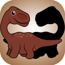 Dinosaurs Shadow Puzzle for kids