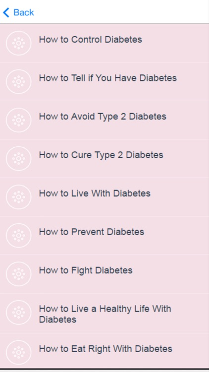 Diabetes Care - Learn How to Control Diabetes screenshot-1