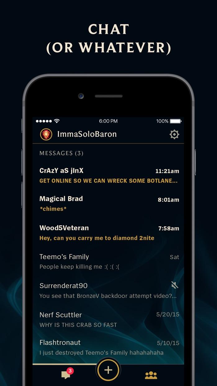 League of Legends Friends Screenshot