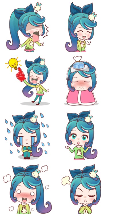Mobile Girl Stickers screenshot-3
