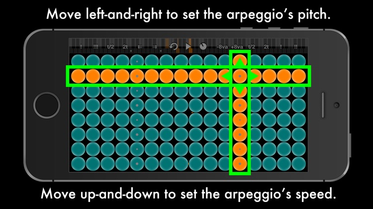 Arpeggionome for iPhone | matrix arpeggiator