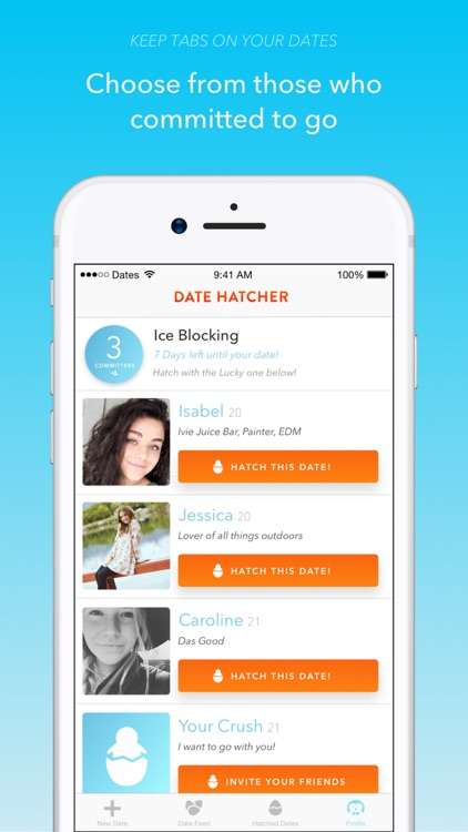 Date Hatcher - The Dating App for Real Dates screenshot-3