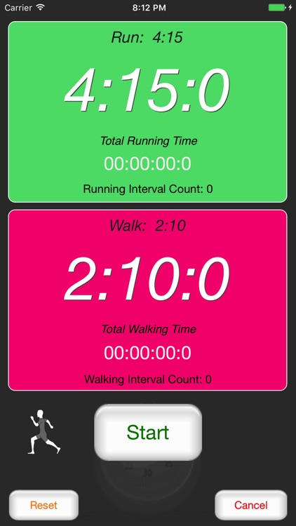 Runner's Interval Timer screenshot-1
