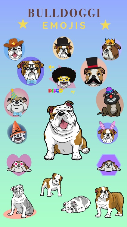 Bulldoggi Emojis - English Bulldog Emoji Stickers