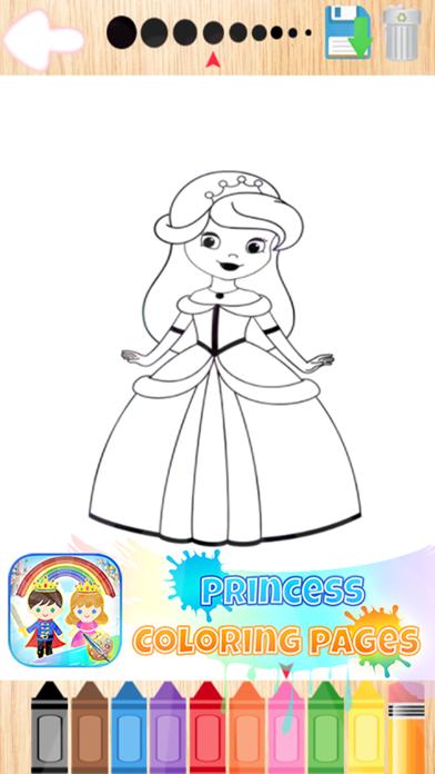 点击获取Princess Art Pad Coloring Page