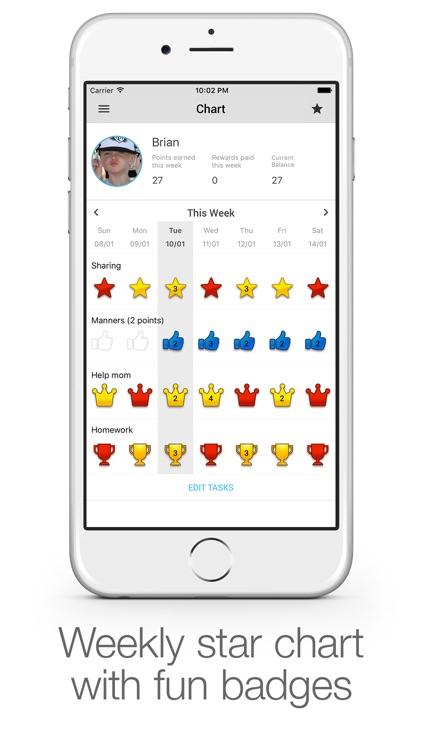 iRewardChart: Parents Reward Tracker Chore chart app image