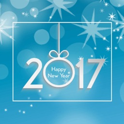 2017 New Year Photo Frames: Picture Greetings Card