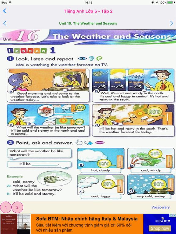 Tieng Anh 5 - English 5 - Tap 2 screenshot 3