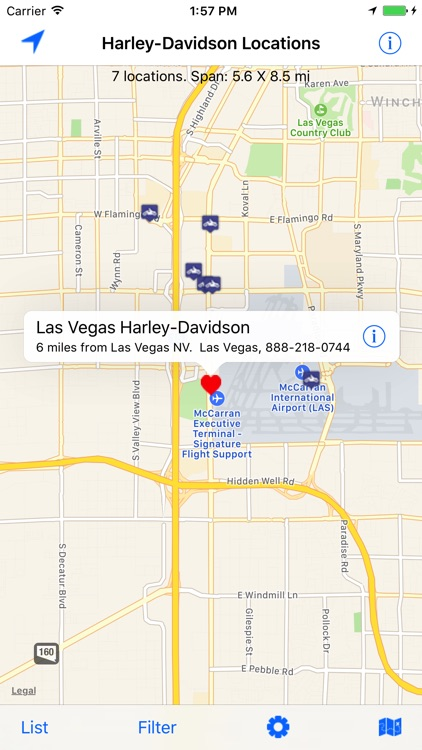 H-D Dealer Locations