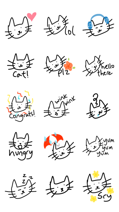 Cat stickers for iMessage, cats pic keyboard emoji screenshot two