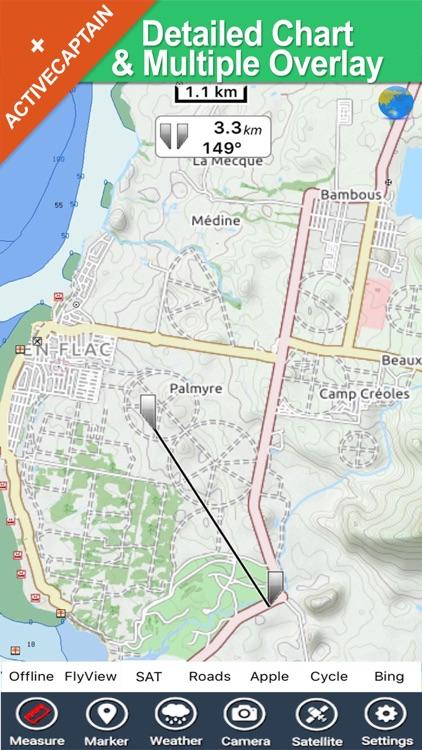 Mauritius - GPS charts offline maps Navigator