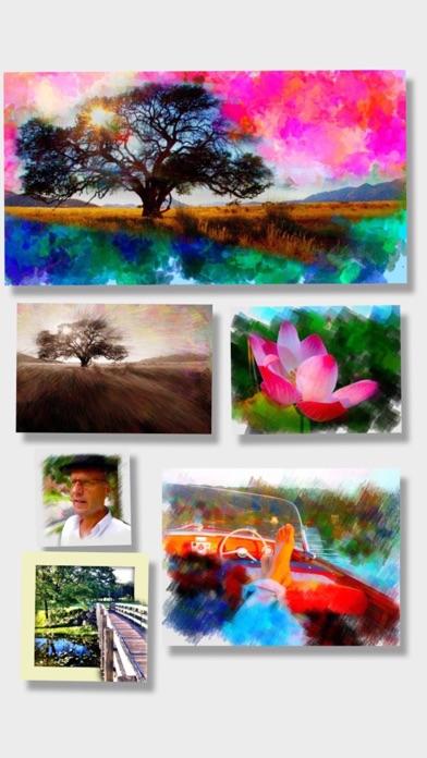 PhotoViva – 写真をブラシで美しい絵画タッチの作品へと変身させる写真編集アプリのスクリーンショット