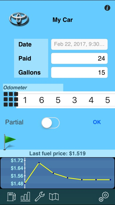 Screenshot for myFuelLog: Car Maintenance in Czech Republic App Store